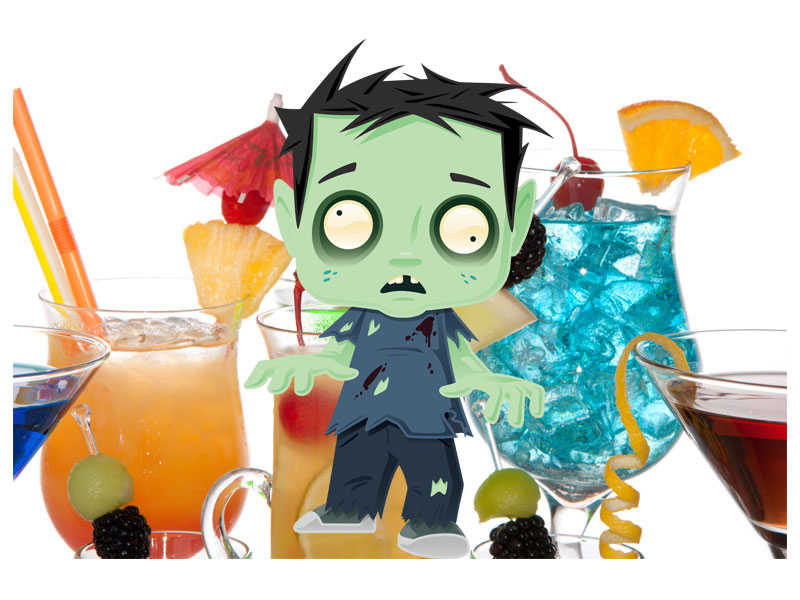 Halloween Treats: ZOMBIE, a cocktail to die for