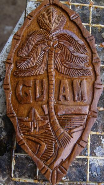 Master Carver Works Wood Furnished By Marines Stripes Guam