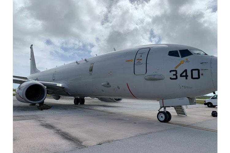 Andersen Air Force Base (Jan. 12, 2021) A Patrol Squadron (VP) 5 P8-A Poseidon aircraft arrives in Guam for Sea Dragon 2021 Jan. 12. Sea Dragon is an annual multi-lateral anti-submarine warfare exercise that improves the interoperability elements required to effectively and cohesively respond to the defense of a regional contingency in the Indo-Pacific, while continuing to build and strengthen relationships held between nations.