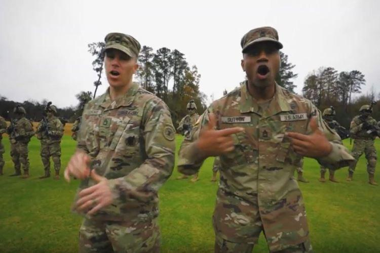 "A screen grab shows a scene from an Army recruiting video called ""Giving All I Got."" (U.S. ARMY)"