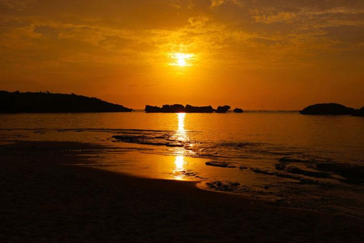 At Hoshizuna Beach on Iriomote Island visitors can find star-shaped sand. (AYA ICHIHASHI/STARS AND STRIPES)