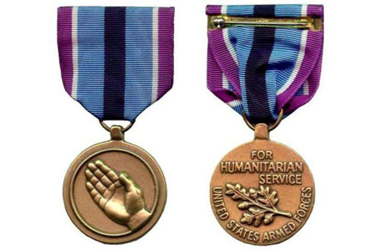 The Humanitarian Service Medal. (U.S. ARMY)