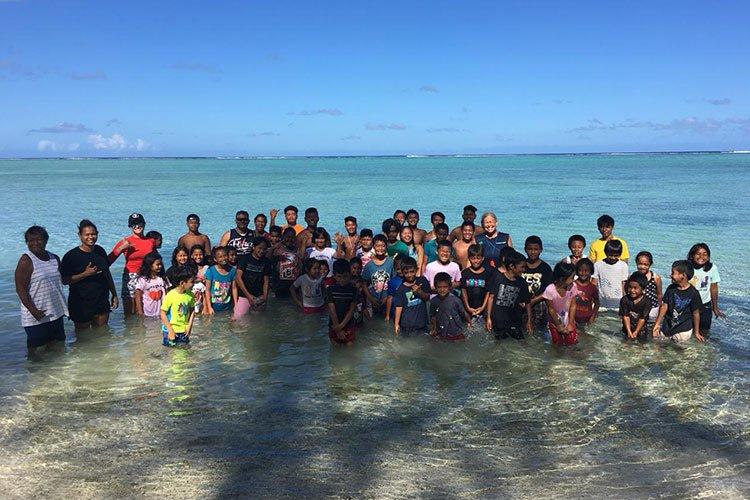 Gamsun Project swim class post-Yutu