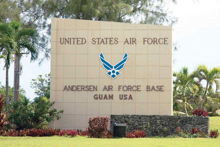 Andersen Air Force Base is home to the 36th Wing on Guam. STARS AND STRIPES