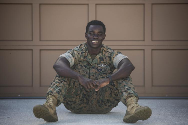 U.S. Navy Hospital Corpsman 2nd Class Samuel Atuahene, a native of Worcester, Mass., is a laboratory technician with 3rd Medical Battalion, 3rd Marine Logistics Group. He is currently assigned to Task Force Medical on Naval Base Guam. (U.S. Marine Corps photo by Staff Sgt. Jordan Gilbert)