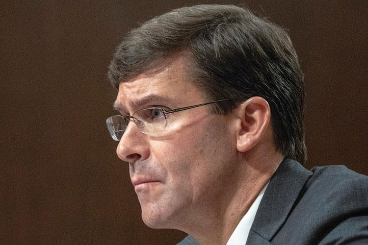 Secretary of Defense Mark Esper. STARS AND STRIPES