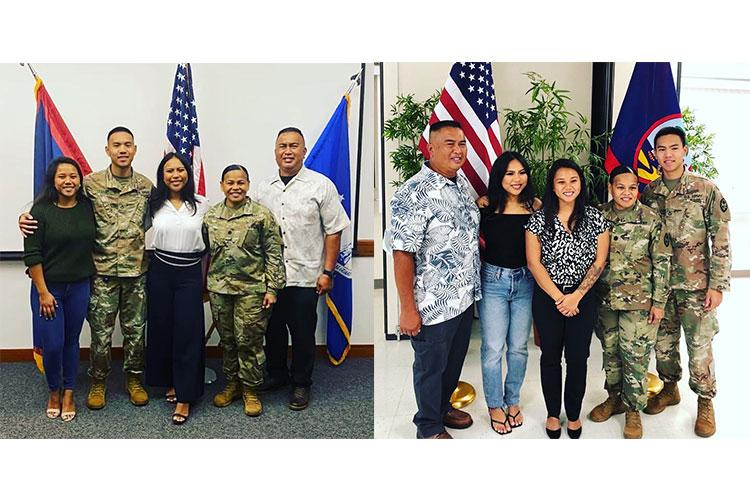 (Left) Airman First Class Nicole Legaspi, (Right) Airman First Class Mikayla Legaspi