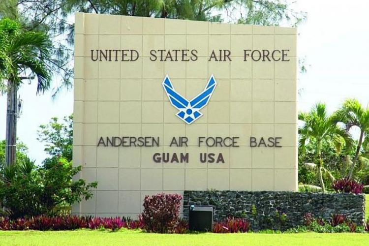 Andersen Air Force Base is home to the 36th Wing on the U.S. territory of Guam in the western Pacific. STARS AND STRIPES