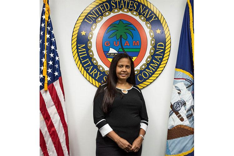 GUAM -- Military Sealift Command Far East selected Jacqueline Kinloch, supervisory financial management analyst at Ship Support Unit Guam, as its Civilian of the Quarter. (U.S. Navy photo by Reynaldo Rebara)