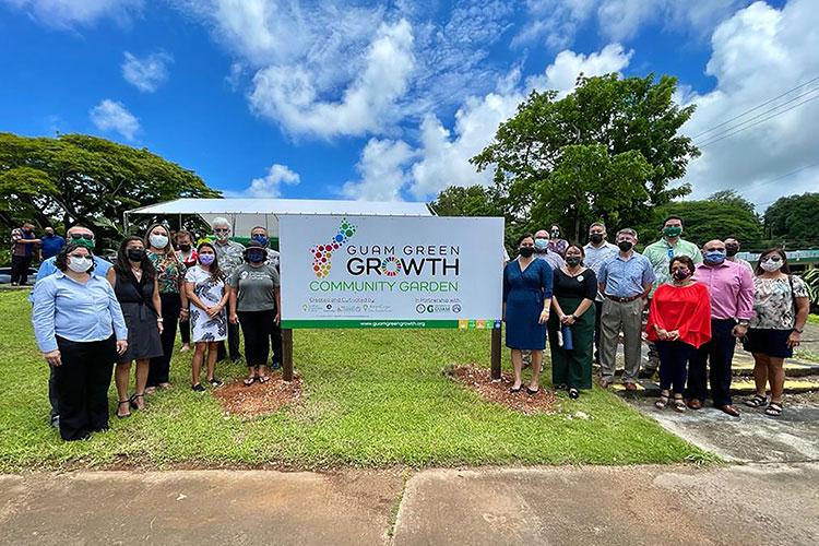Partners of the Guam Green Growth initiative celebrated the ground-raising of the new Guam Green Growth Community Garden on Aug. 19 across from the Guam Museum in Hagåtña. Photos courtesy of the UOG Center for Island Sustainability