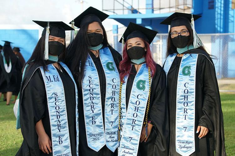 Master of Education in Secondary Education Cohort 7: (From left) Aira Millanes, Chellette San Nicolas, Jonnavie Abaya, and Tara Tydingco.