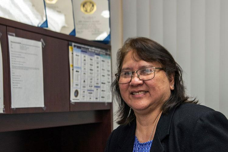 Norma Pillman has dedicated her entire 40-year career to serving the U.S. Government, the last 24 with Military Sealift Command. The proud Guamanian is known throughout MSC, especially in the Far East, as a go-to expert on all things related to human resources. (U.S. Navy photo by Rey Rabara)