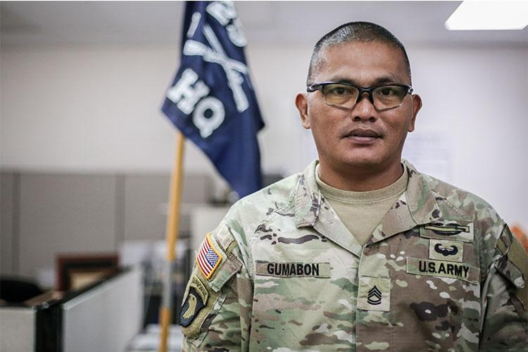 Sgt. 1st Class James Gumabon, readiness noncommissioned officer for Hilitai Company, 1-294th Infantry Regiment, Guam National Guard, rescues an adrift vessel on his day off on Oct. 12.