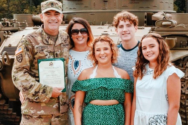 Army Sgt. Maj. Patrick McGrath, 108th Defense Artillery Brigade, shares his story of seeking help after contemplating suicide in 2019. (Courtesy Photo)