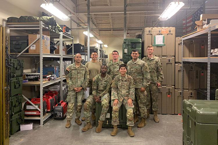 University of Guam ROTC Cadet Talia Meno (seated at right) with members of the special operations medical unit in the 528th Sustainment Brigade at Fort Bragg, N.C., where she is shadowing an Army second lieutenant. Photos courtesy of University of Guam