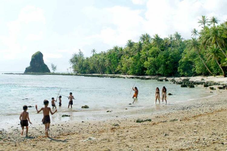 The CHamoru Society. Photo by Victor Consaga at Guampedia filming of I Tinituhon.