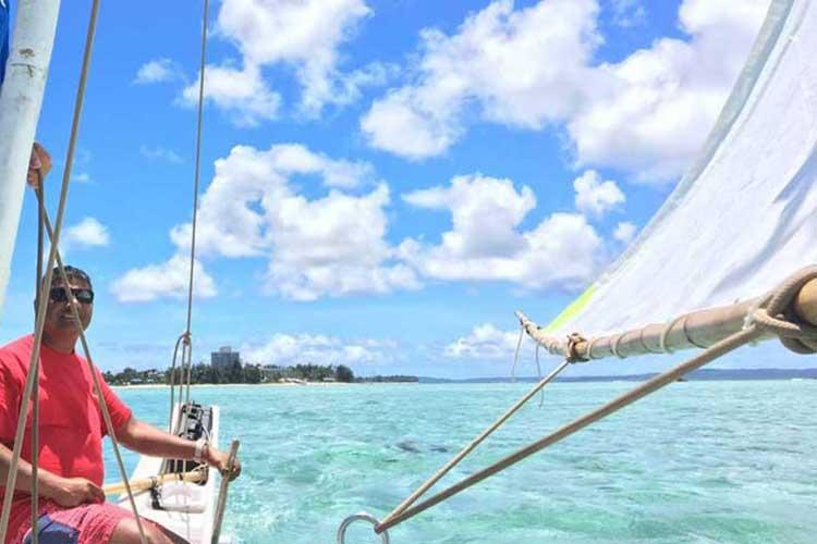 Neni on last year's sail to Tinian