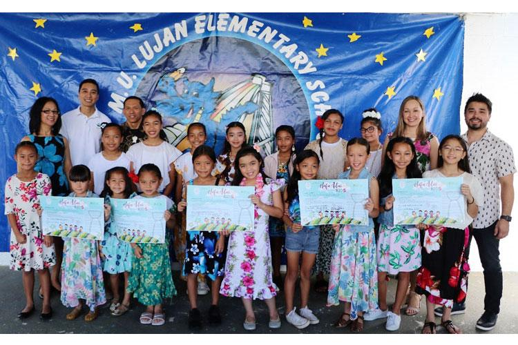 tudent representatives from M. U. Lujan Elementary School's 5th Grade Student Council and grade levels took the Håfa Adai Pledge on February 11, 2019 on behalf of the entire student body, who were in attendance.