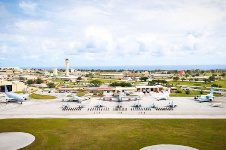 Aircraft and members of the U.S. military, Royal Australian Air Force, and Koku-Jieitai are staged on the flight line at Andersen Air Force Base, Guam, during exercise Cope North 21 Feb. 13, 2021. Cope North is an annual exercise that serves as a keystone event to enhance U.S. relations with our regional allies and partners by demonstrating our resolve to promote security and stability throughout the Indo-Pacific. (U.S. Air Force photo by Senior Airman Duncan C. Bevan)