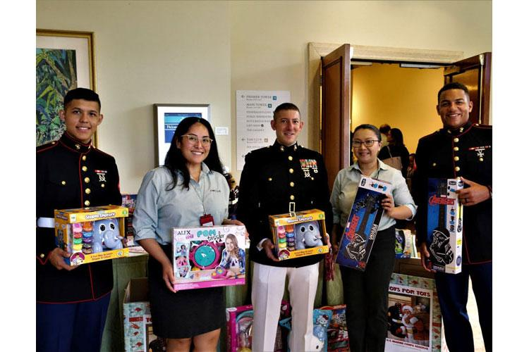 Marines with Marine Corps Activity Guam start collecting toys at the kickoff of Toys for Tots on Guam September 26th 2019. This is the 10th year of the Toys for Tots program on Guam.
