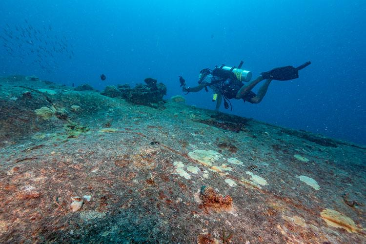 Gosei Maru (Shipwreck), photo courtesy of Guam Visitors Bureau