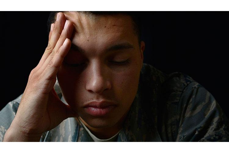 Post-traumatic stress disorder develops in some people after exposure to a traumatic event. It affects approximately 8 million Americans and can interfere with a person's daily life and impact personal relationships. (U.S. Air Force photo by Senior Airman Christian Clausen/Released)