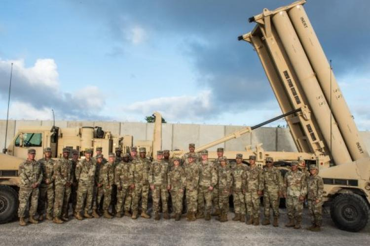 For the first time, the Guam ARNG took over a mission from the U.S. Army's 94th Army Air and Missile Defense Command to provide security forces support for Task Force Talon, responsible for operating the Terminal High Altitude Area Defense (THAAD) Battery at Andersen Air Force Base. (Photo Credit: Sgt. 1st Class Peter Morrison)