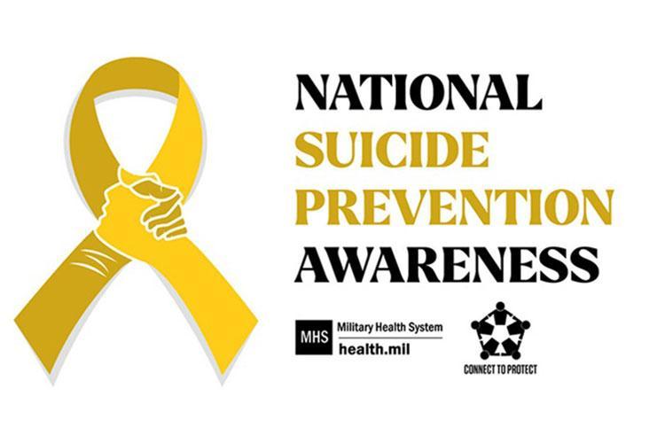 """The DOD theme for this year's National Suicide Prevention Month is """"Connect to Protect: Support is Within Reach,"""" emphasizing connectedness even during a pandemic."""