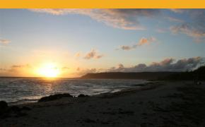 Sunset at Tarague Beach provides breathtaking views of the setting and rising sun. Photos by Tennille Bueno