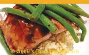Hoisin Honey Glazed Salmon. Photo courtesy of Annie's Chamorro Kitchen