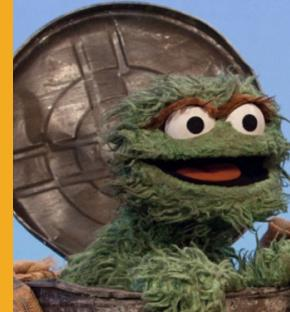 Oscar the Grouch during Sesame Street's 42nd season. An internal training guide used by the U.S. Department of Veterans Affairs in Philadelphia compares veterans unhappy about their care to the Muppet character. (Richard Termine/sesameworkshop.org)