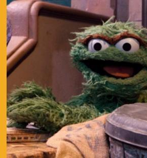 Oscar the Grouch during Sesame Street's 42nd season. (Richard Termine/sesameworkshop.org)