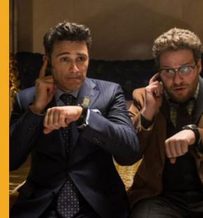 """The Interview"" is a comedy starring Seth Rogen and James Franco, and its plot concerns an attempt on the life of North Korea leader Kim Jong Un. (Courtesy of Columbia Pictures)"