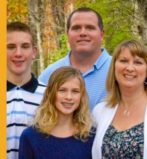 Thomas family photo - Connor (back left), his dad Casey (back right), his sister Kirstin (front left), and his mom Janel (front right). Photo courtesy of Connor Thomas