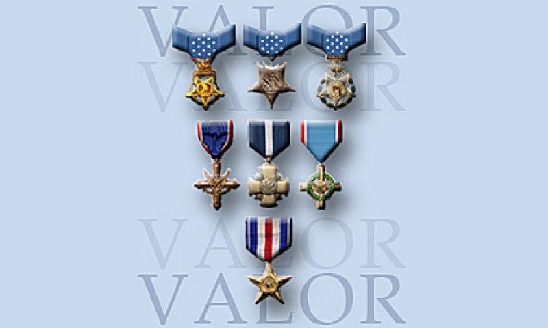 Top three U.S. military medals of valor. (Defense Department)