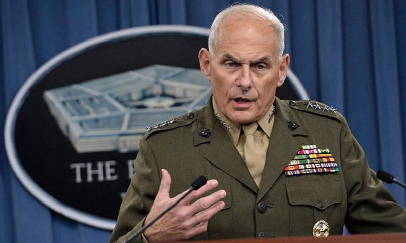 U.S. Marine Corps Gen. John F. Kelly answers questions at the Pentagon on March 13, 2014. (DOD)