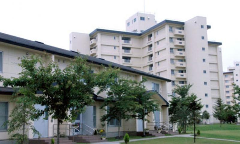 Tower apartments and ground-style housing like these at Misawa Air Base are common at U.S. military bases in Japan. (T.D. Flack / S&S)