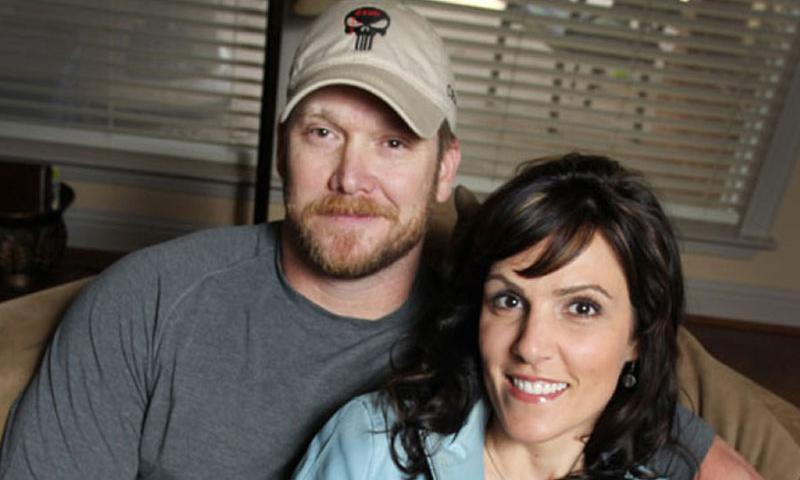 "Chris Kyle, a retired Navy SEAL and bestselling author of the book ""American Sniper: The Autobiography of the Most Lethal Sniper in U.S. Military History,"" is seen with his wife, Taya, April 6, 2012. (Paul Moseley/Fort Worth Star-Telegram via MCT)"