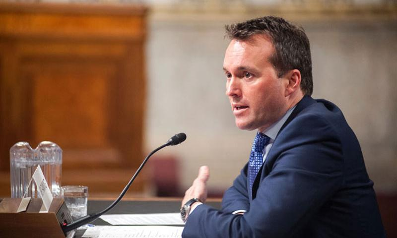 Eric Fanning attends a Senate Committee on Armed Services hearing Thursday, Jan. 21, 2016, on Capitol Hill in Washington, D.C., as committee members considered his nomination to become the next secretary of the Army. (Carlos Bongioanni/Stars and Stripes)