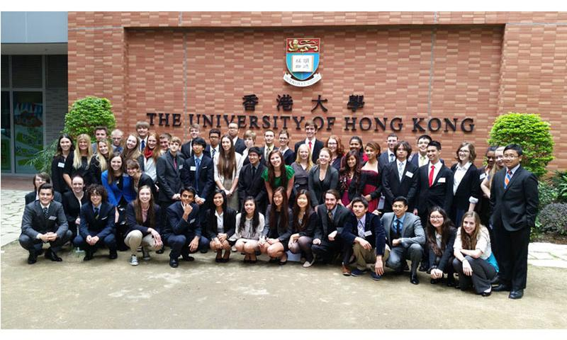 DoDEA Pacific high school students earned numerous accolades during the Harvard Model Congress Asia 2015 Far East event held in Hong Kong. (Photo courtesy of Dr. Ronnie Holley)