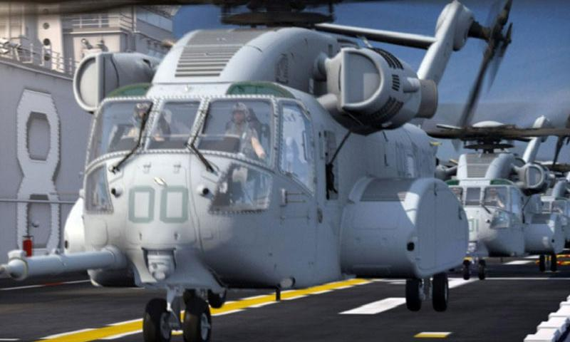 """The schedule to replace worn systems such as the Marine Corps' CH-53 Super Stallion helicopter with the new CH-53K King Stallion, shown here, """"keeps getting pushed further and further into the future,"""" a defense analyst said. (Sikorsky Aircraft)"""