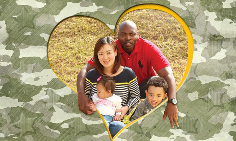 Tech. Sgt. Quintin Robinson from Waterproof, Louisiana, married wife Motoko from Momoishi, Aomori, Japan, six years ago. They reside on Kadena Air Base, Okinawa.