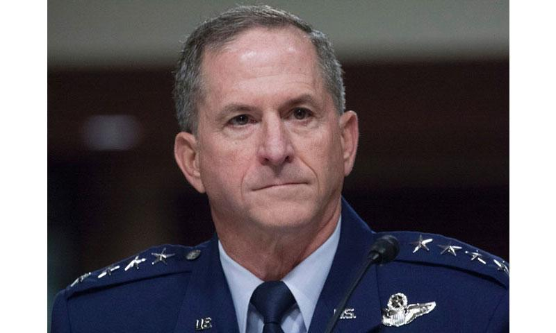 Gen. David Goldfein, at a Senate hearing in June, 2016. (STARS AND STRIPES)