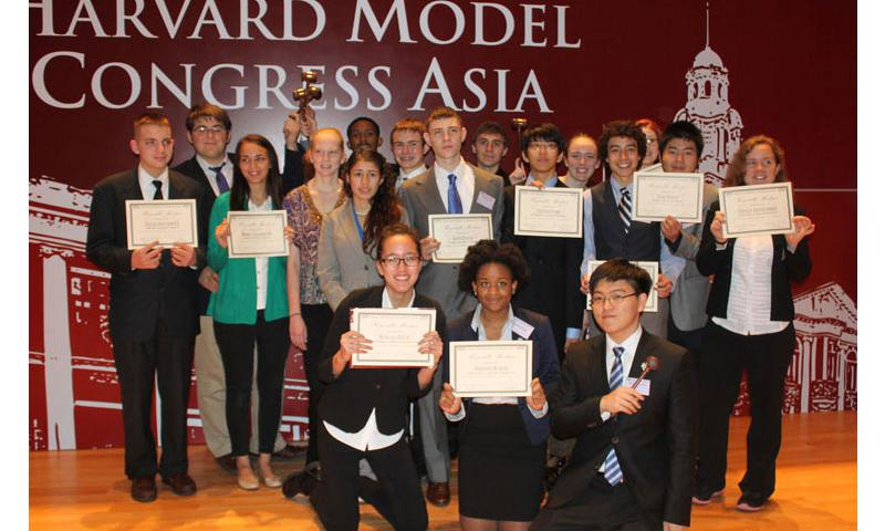 DoDEA Pacific high school students earned numerous accolades during the 2014 Harvard Model Congress Asia Far East event held in Hong Kong.