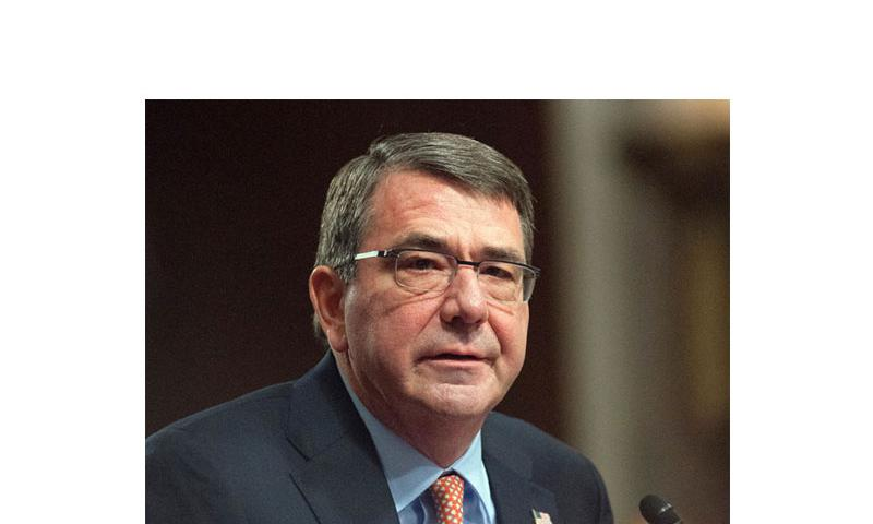 During a nomination hearing before the Senate Armed Services Committee on Wednesday, Feb. 4, 2015, on Capitol Hill in Washington, D.C., Defense Secretary nominee Ashton Carter told lawmakers that he would 'incline in the direction of providing' Ukrainian troops with lethal arms to combat Russian-backed rebels. (Carlos Bongioanni/Stars and Stripes)