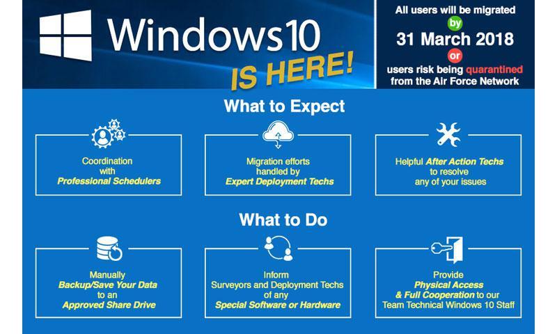 AF upgrades to Windows 10