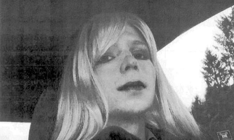 Pfc. Bradley Manning posed for a photo wearing a wig and lipstick prior to beginning hormone therapy and living as a woman named Chelsea. The soldier was sentenced to 35 years in prison for sending classified material to WikiLeaks in August of 2013. (U.S. Army)