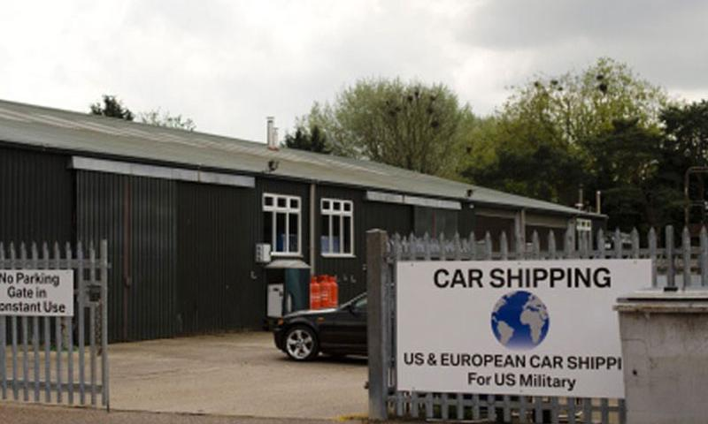 International Auto Logistics opened new vehicle processing centers like this one in Mildenhall, England, when it took over the contract in May 2014 to ship servicemembers' vehicles. (Adam L. Mathis/Stars and Stripes)