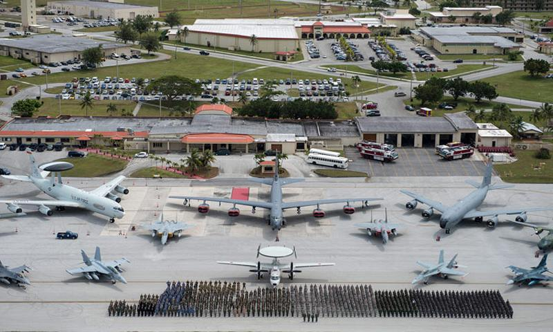 Exercise COPE NORTH 15 participates and aircraft from the U.S. Air Force, U.S. Navy, Japan Air Self-Defense Force, Royal Australian Air Force, Republic of Korea Air Force, Royal New Zealand Air Force, and Philippine Air Force participate in a group photo event Feb.13, 2015, at Andersen Air Force Base, Guam. (U.S. Air Force photo by Tech. Sgt. Jason Robertson/released)