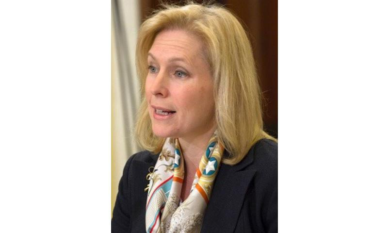 Sen. Kirsten Gillibrand, D-N.Y., shown here at a Senate committee hearing on sexual assault February 26, 2014, says the number of soldiers disqualified for sensitive jobs indicates the need for radical reform of the military's approach to sexual assault prosecution. (Joe Gromelski/Stars and Stripes)